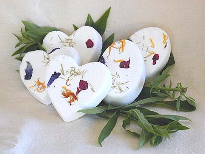 Lemon Verbena Bath Bombe - Heart-shaped