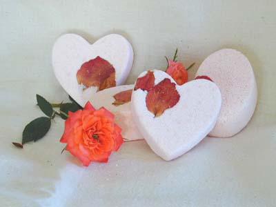 Tea Rose Bath Bombe - Heart-shaped