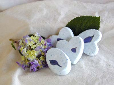 Lilac Bath Bombe - Heart-shaped