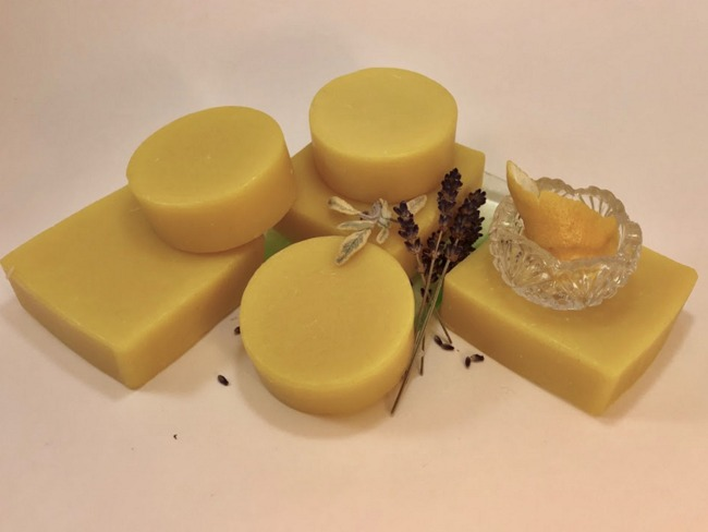 Lemon Lavender Mint Soap - 2.5 Oz Round Bar