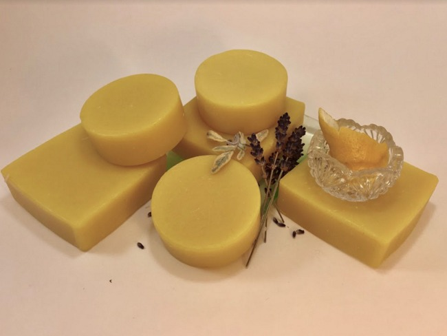 Lemon Lavender Mint Soap - 4.0 Oz Square Bar